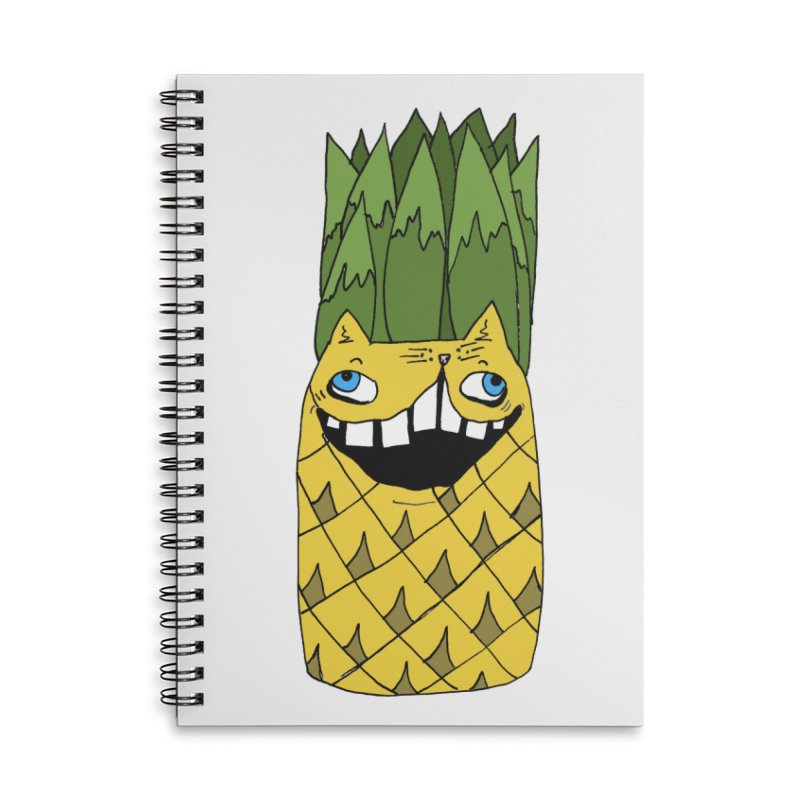 Meowapple Accessories Lined Spiral Notebook by CATCARYEG