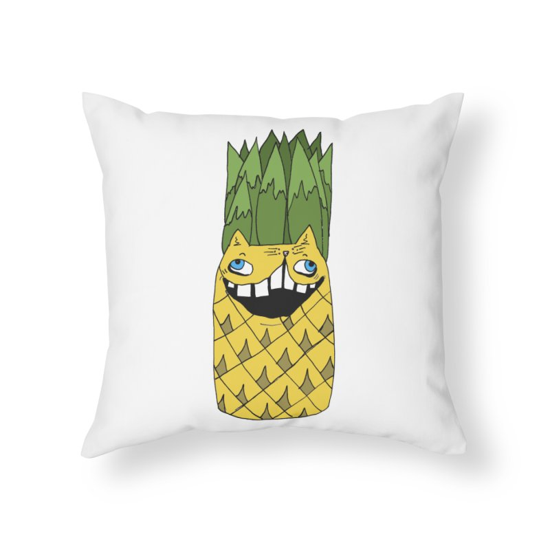 Meowapple Home Throw Pillow by CATCARYEG