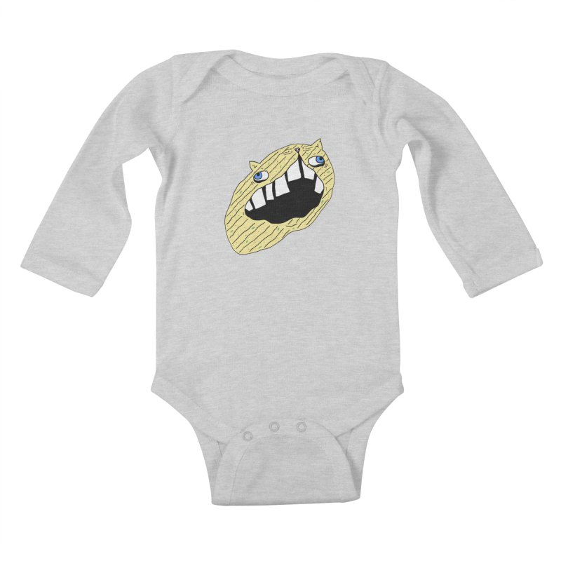 Cat-sup Chip Kids Baby Longsleeve Bodysuit by CATCARYEG