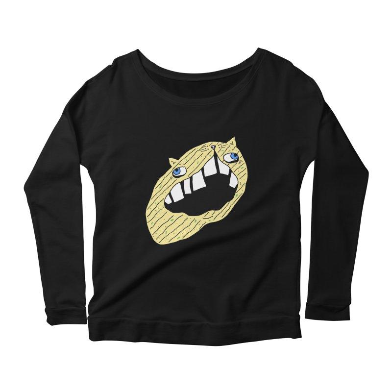 Cat-sup Chip Women's Scoop Neck Longsleeve T-Shirt by CATCARYEG