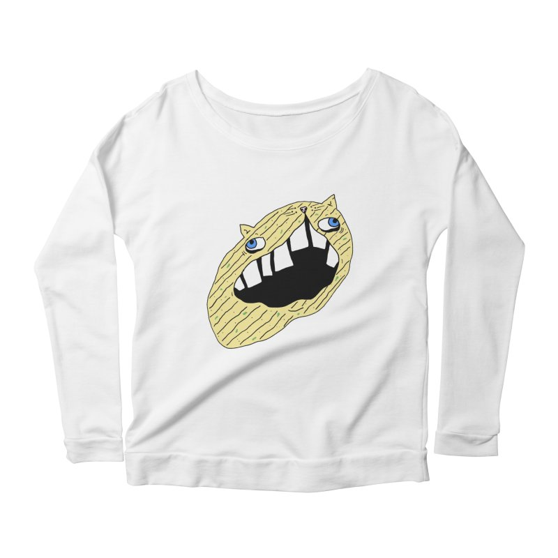Cat-sup Chip Women's Scoop Neck Longsleeve T-Shirt by CATCARYEG