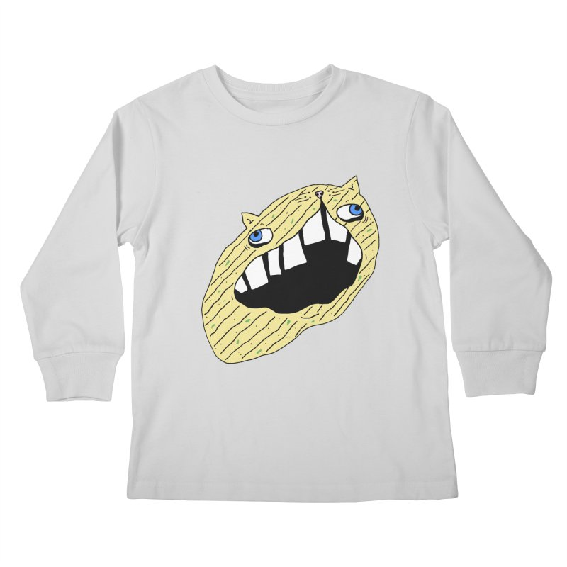 Cat-sup Chip Kids Longsleeve T-Shirt by CATCARYEG