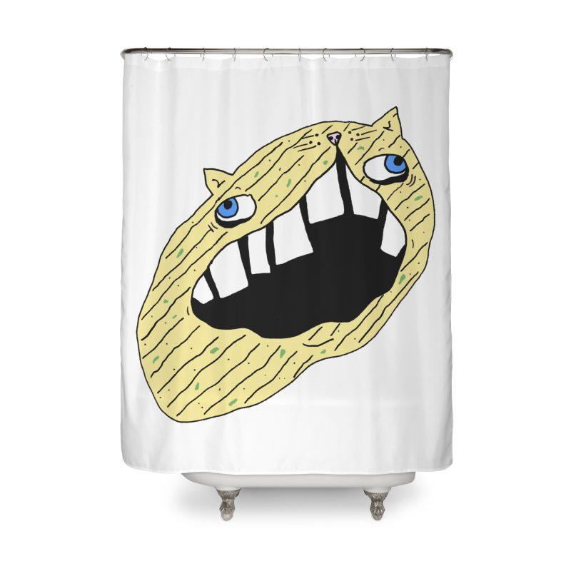 Cat-sup Chip Home Shower Curtain by CATCARYEG