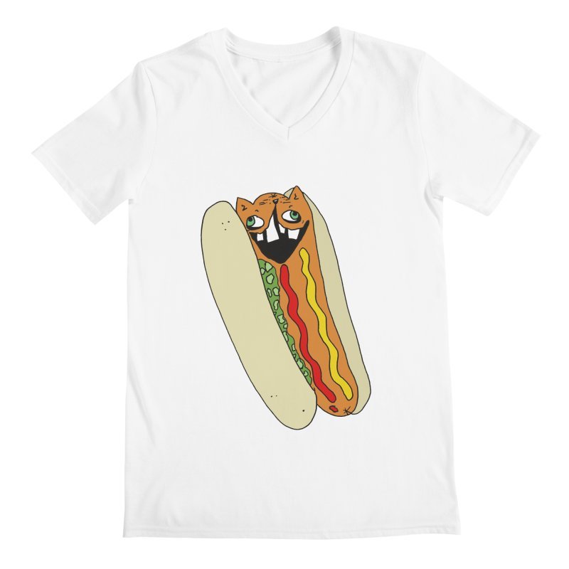Cat-Dog (not the show) Men's Regular V-Neck by CATCARYEG