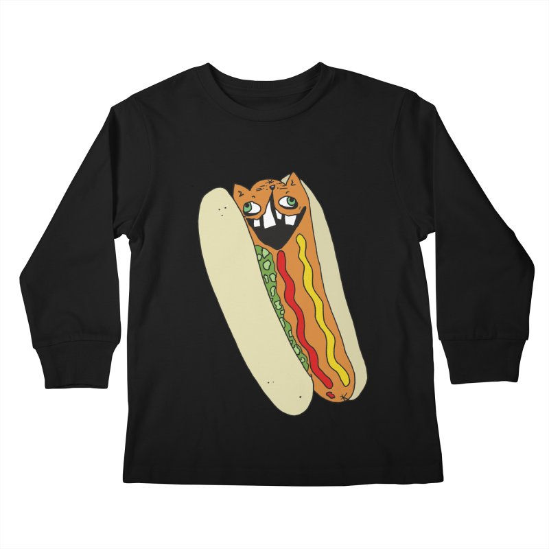 Cat-Dog (not the show) Kids Longsleeve T-Shirt by CATCARYEG
