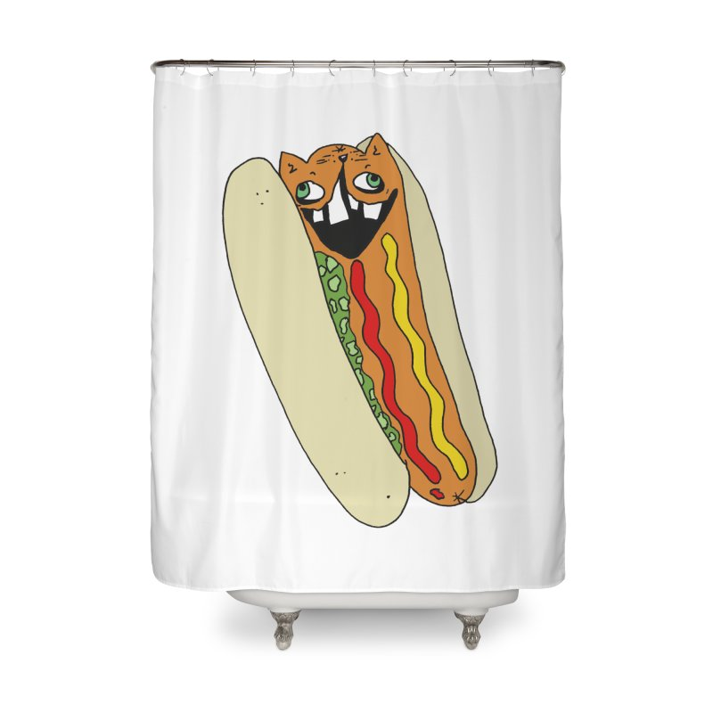 Cat-Dog (not the show) Home Shower Curtain by CATCARYEG