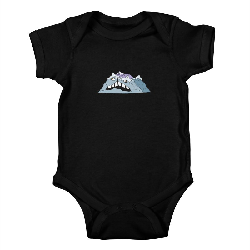 Meowtains Kids Baby Bodysuit by CATCARYEG