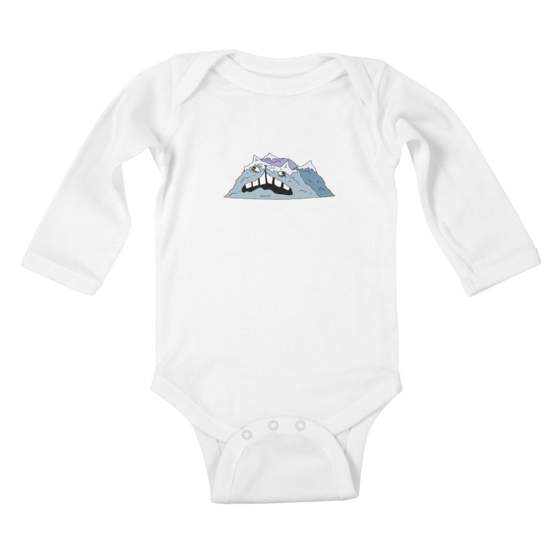 Meowtains Kids Baby Longsleeve Bodysuit by CATCARYEG