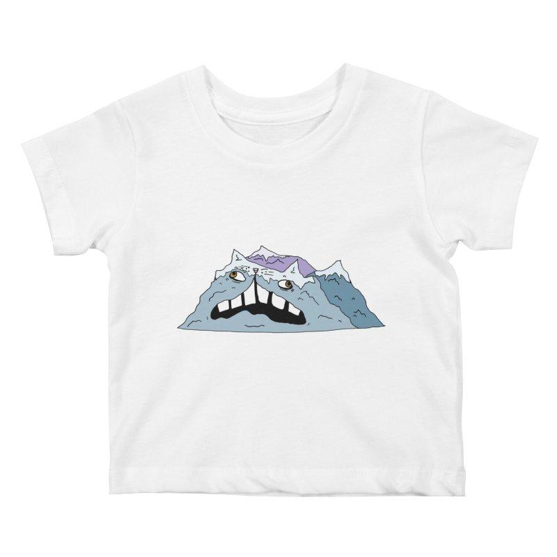 Meowtains Kids Baby T-Shirt by CATCARYEG