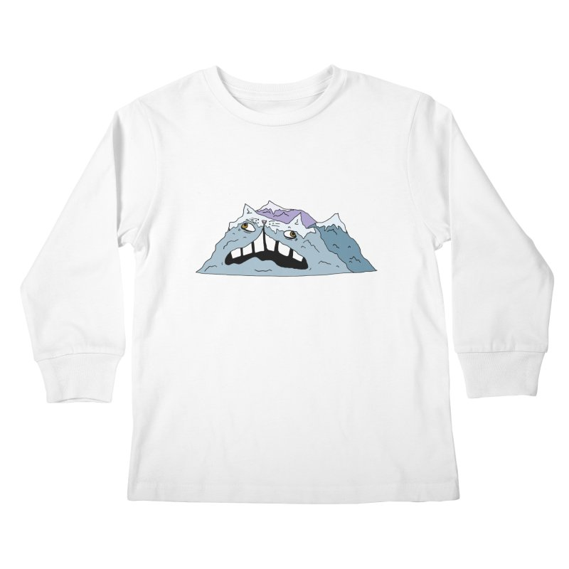 Meowtains Kids Longsleeve T-Shirt by CATCARYEG