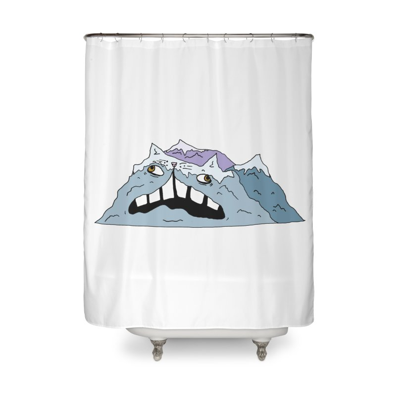 Meowtains Home Shower Curtain by CATCARYEG