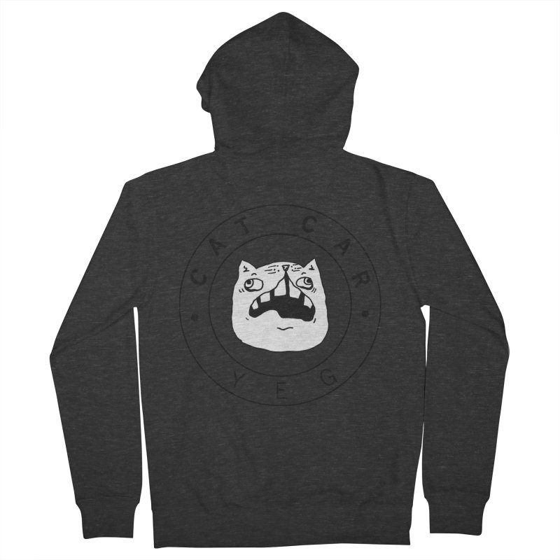 CAT CAR YEG Men's French Terry Zip-Up Hoody by CATCARYEG