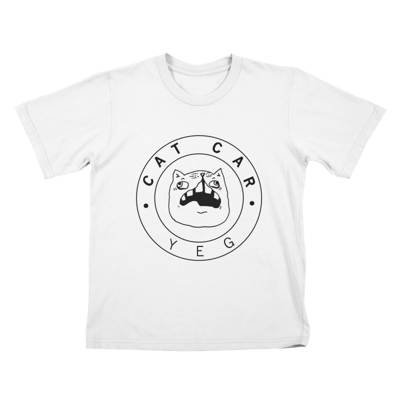 CAT CAR YEG Kids T-Shirt by CATCARYEG