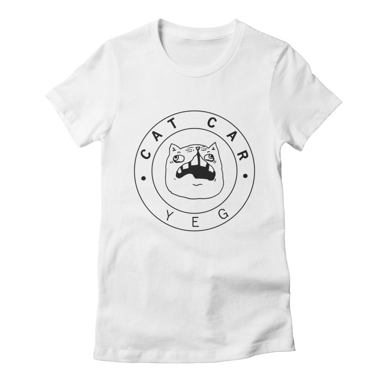 CAT CAR YEG Women's Fitted T-Shirt by CATCARYEG