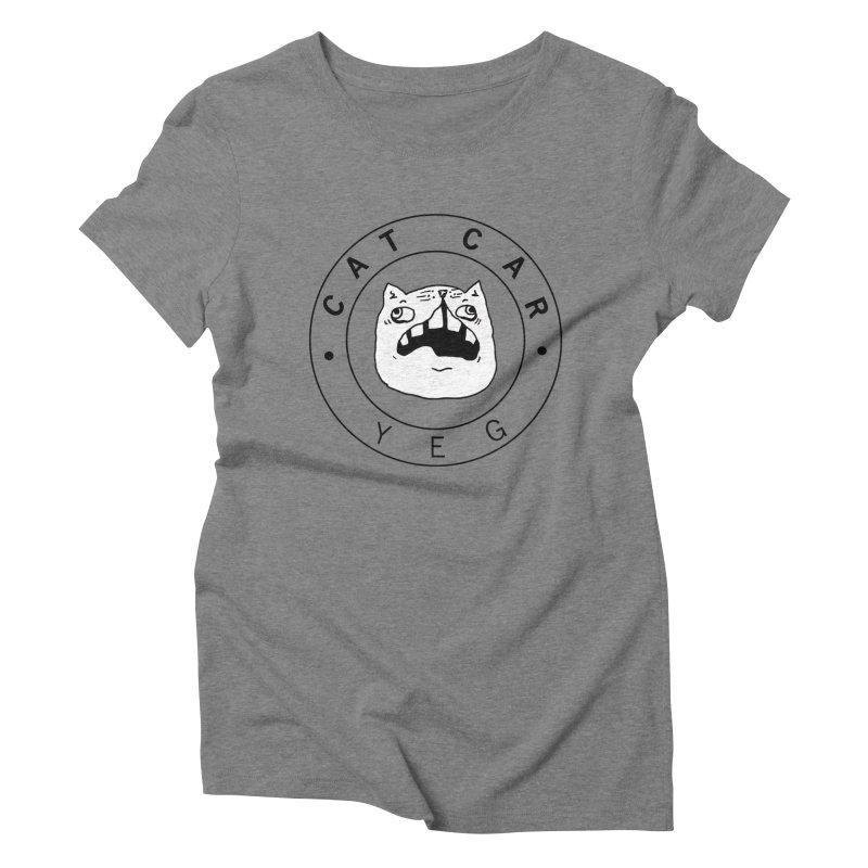 CAT CAR YEG Women's Triblend T-Shirt by CATCARYEG