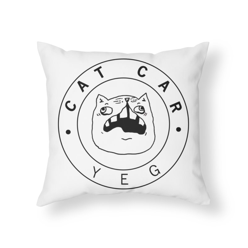 CAT CAR YEG Home Throw Pillow by CATCARYEG