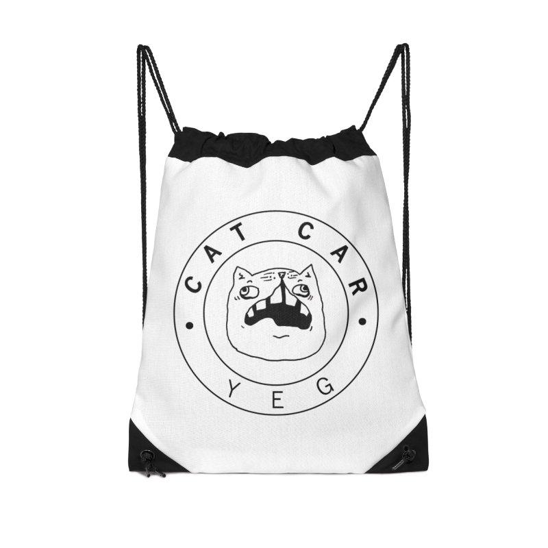 CAT CAR YEG Accessories Drawstring Bag Bag by CATCARYEG