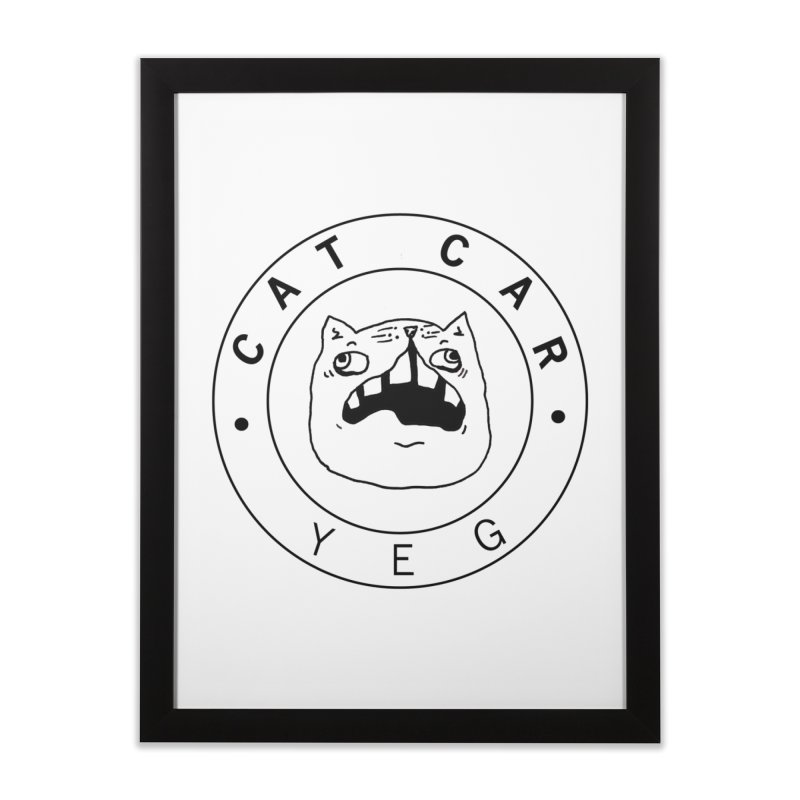 CAT CAR YEG Home Framed Fine Art Print by CATCARYEG
