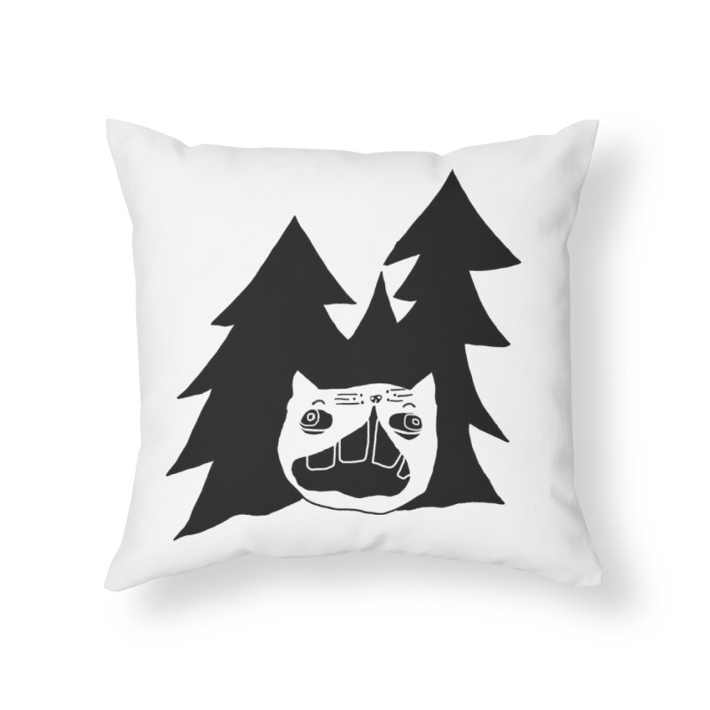 Evermeow Home Throw Pillow by CATCARYEG