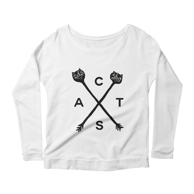 Cats? Cast? Women's Longsleeve Scoopneck  by CATCARYEG