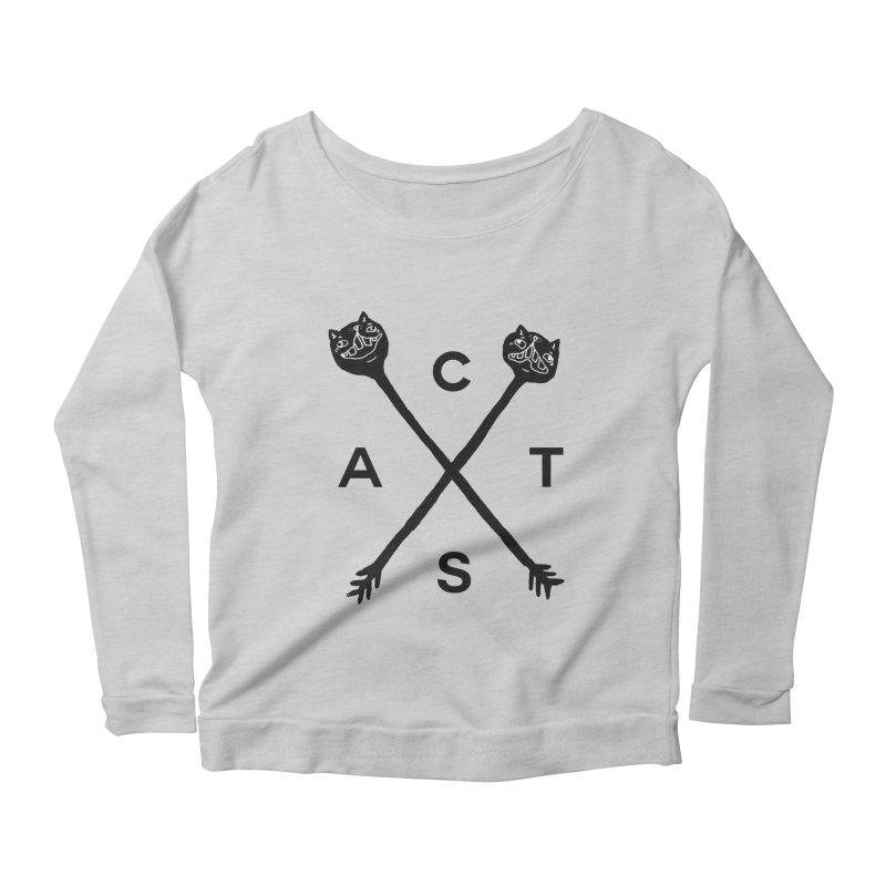 Cats? Cast? Women's Scoop Neck Longsleeve T-Shirt by CATCARYEG