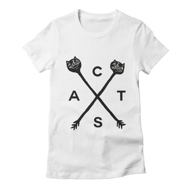 Cats? Cast? Women's Fitted T-Shirt by CATCARYEG