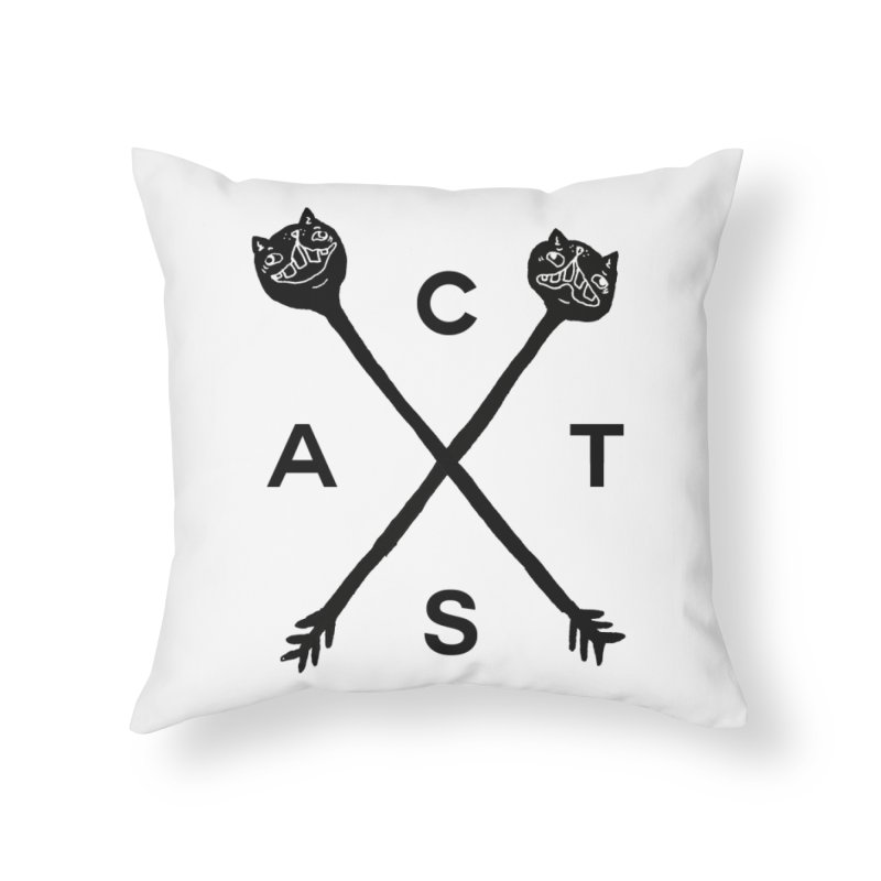 Cats? Cast? Home Throw Pillow by CATCARYEG