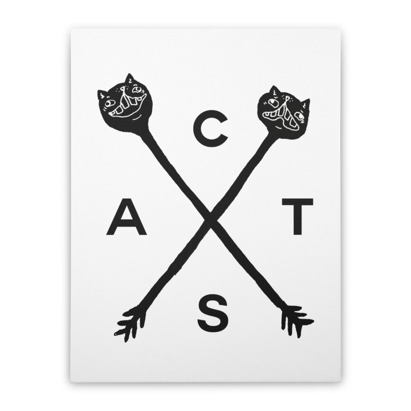 Cats? Cast? Home Stretched Canvas by CATCARYEG