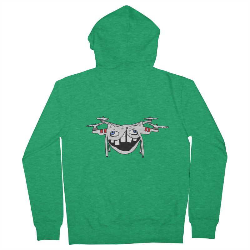 Drone Cat Women's French Terry Zip-Up Hoody by CATCARYEG