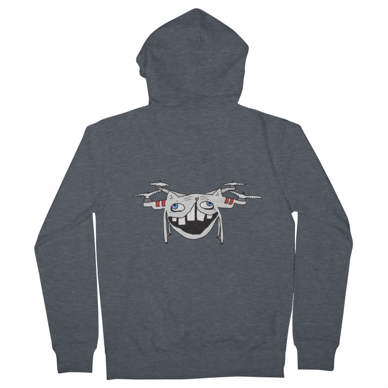 Drone Cat Men's French Terry Zip-Up Hoody by CATCARYEG