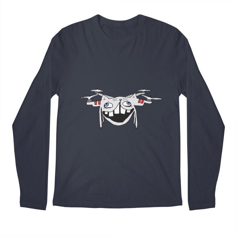 Drone Cat Men's Longsleeve T-Shirt by CATCARYEG