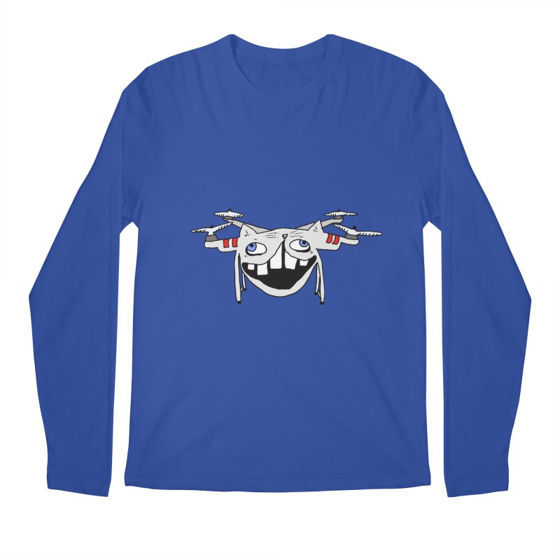 Drone Cat Men's Regular Longsleeve T-Shirt by CATCARYEG