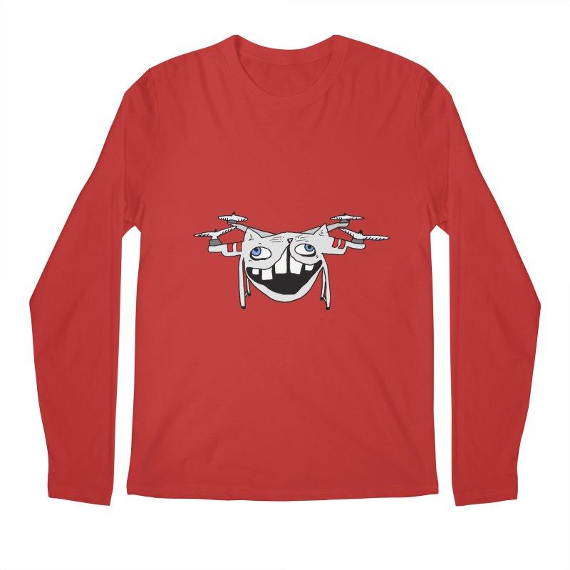 Drone Cat Men's Regular Longsleeve T-Shirt by CATCARYEG