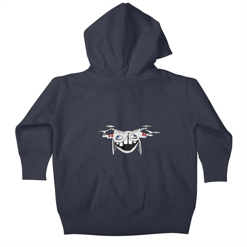 Drone Cat Kids Baby Zip-Up Hoody by CATCARYEG