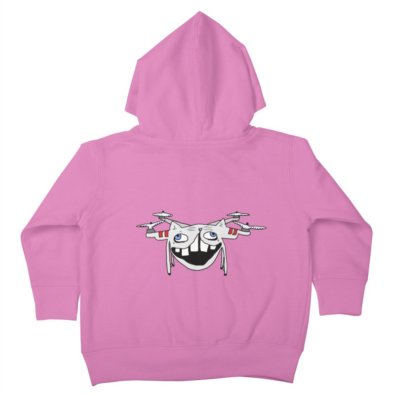 Drone Cat Kids Toddler Zip-Up Hoody by CATCARYEG