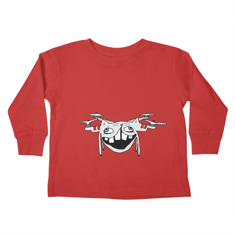 Drone Cat Kids Toddler Longsleeve T-Shirt by CATCARYEG