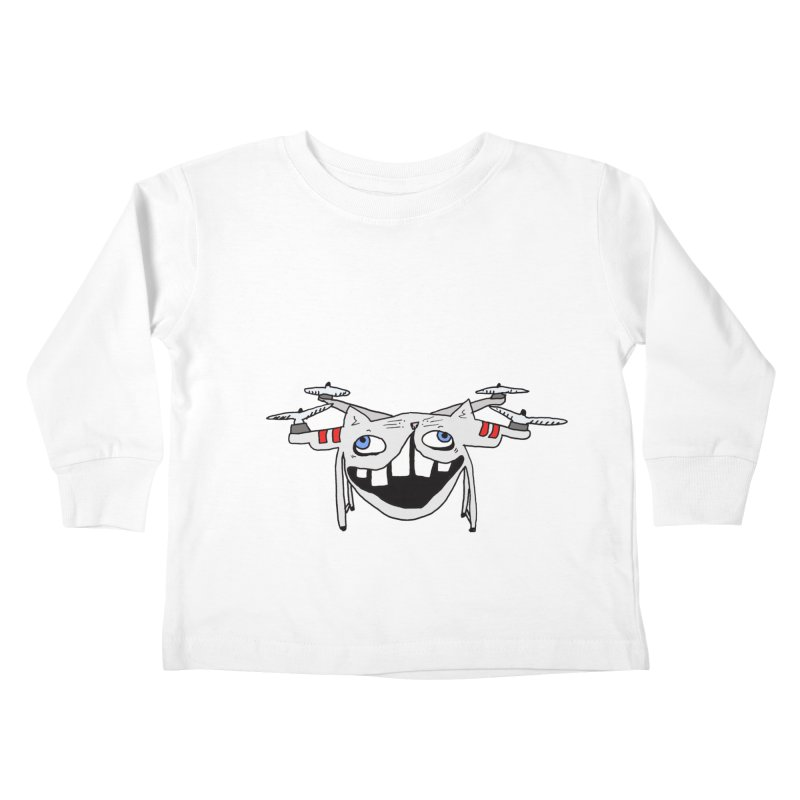 Drone Cat Kids Toddler Longsleeve T-Shirt by CATCARYEG