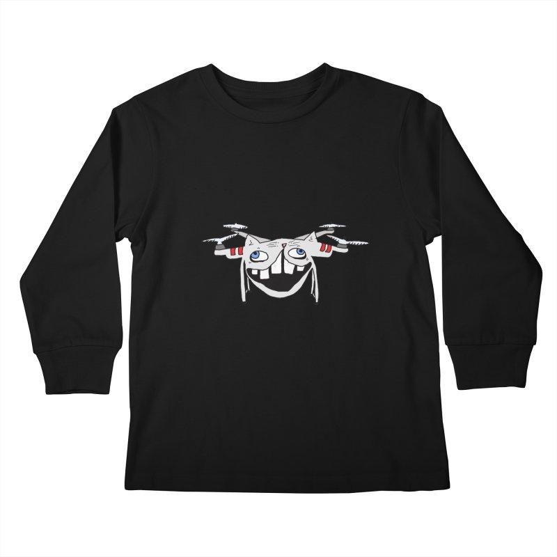 Drone Cat Kids Longsleeve T-Shirt by CATCARYEG