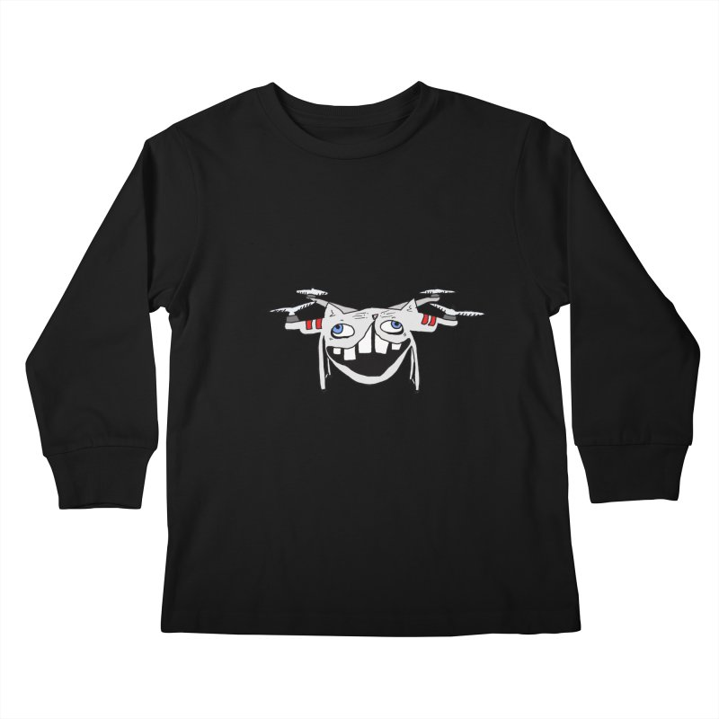 Drone Cat Kids Longsleeve T-Shirt by CATCARYEG