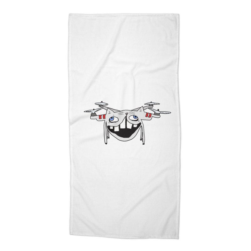 Drone Cat Accessories Beach Towel by CATCARYEG