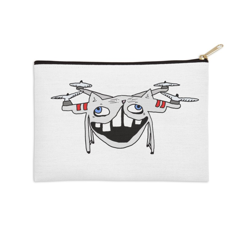 Drone Cat Accessories Zip Pouch by CATCARYEG