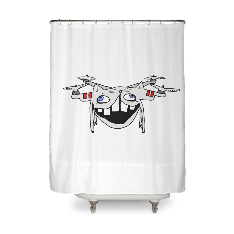 Drone Cat Home Shower Curtain by CATCARYEG