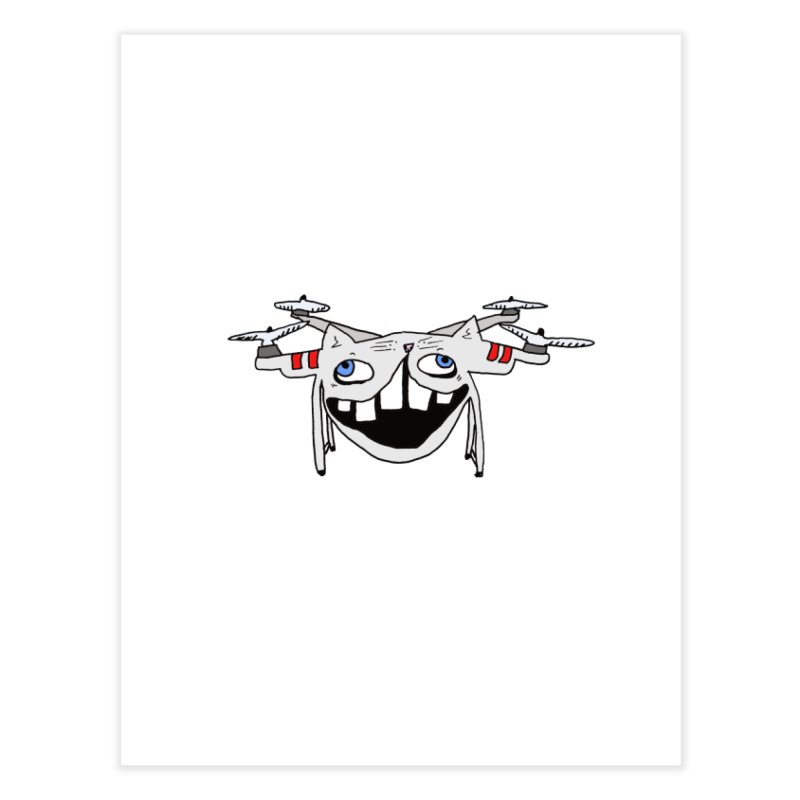 Drone Cat Home Fine Art Print by CATCARYEG