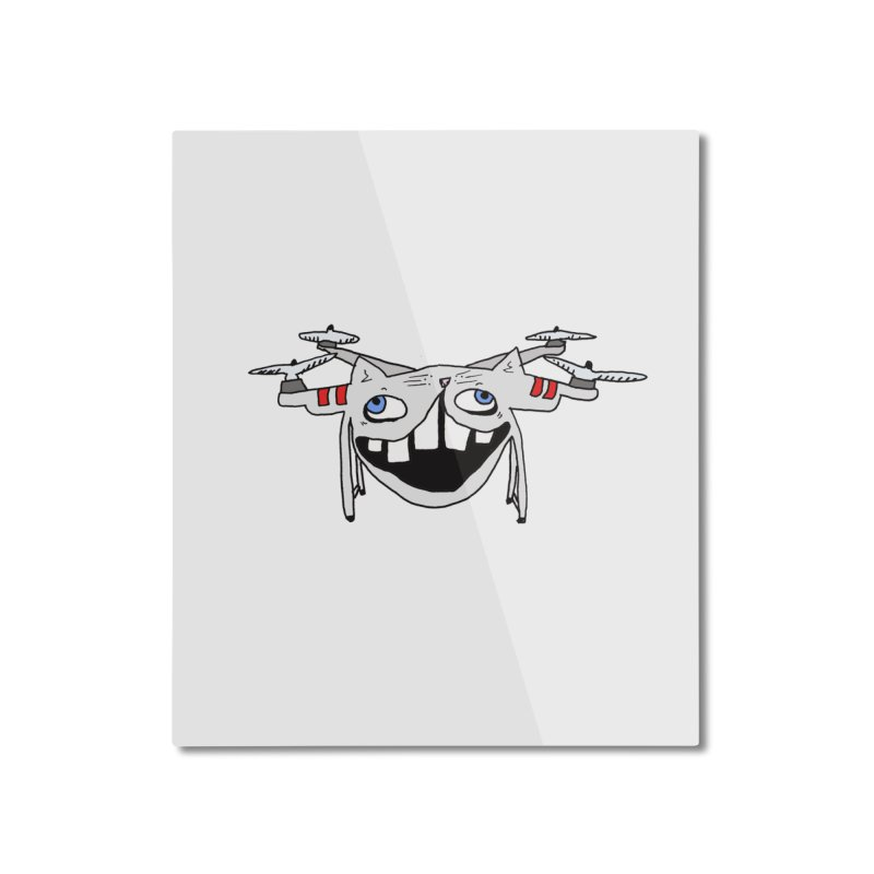 Drone Cat Home Mounted Aluminum Print by CATCARYEG