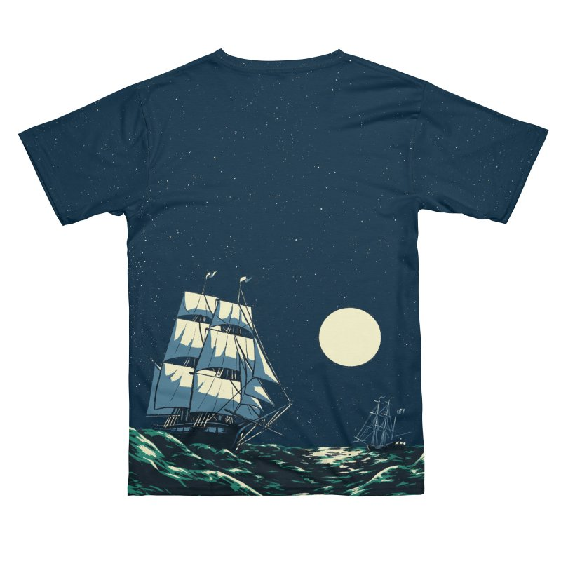 Ship at Sea Men's Cut & Sew by Catparrts' Shop