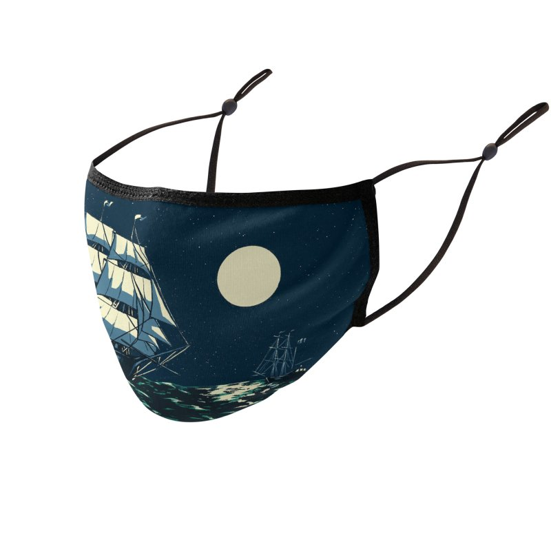 Ship at Sea Accessories Face Mask by Catparrts' Shop