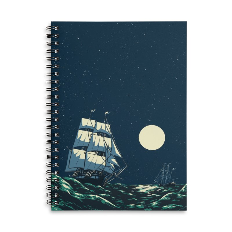 Ship at Sea Accessories Notebook by Catparrts' Shop