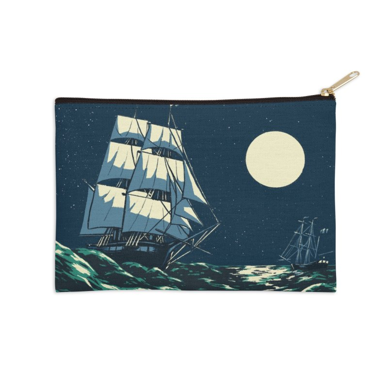 Ship at Sea Accessories Zip Pouch by Catparrts' Shop