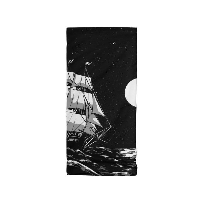 Ship at Sea- Black and White Accessories Neck Gaiter by Catparrts' Shop