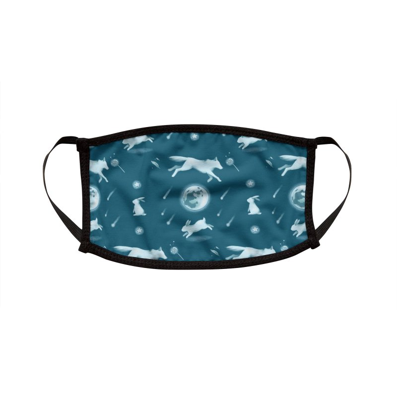 Blue Moon Buns Accessories Face Mask by Catparrts' Shop
